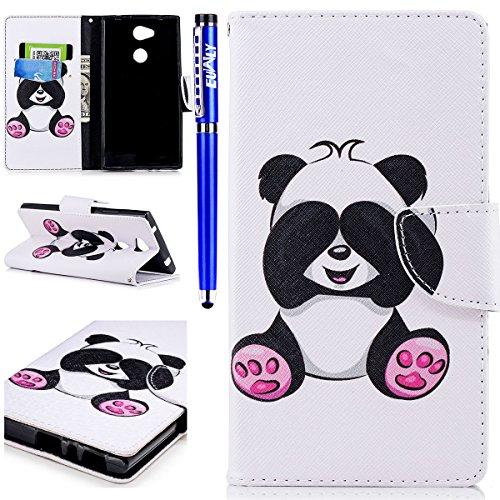 Elegant Mønster Panda Saken 3d Pu Dekselet kontanter Skinn Kort Bok plasser ma Retro Sony Vakre Lommebok L2 støtten Beskyttelsesetui Og Fargerikt Flip Sony Euwly Xperia SqwXaXAZ