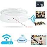 WISEUP 8GB 1920x1080P HD Wifi Network Hidden Spy Camera Smoke Detector Motion Detective Security DVR Support iPhone Android APP Remote View Loop Recording