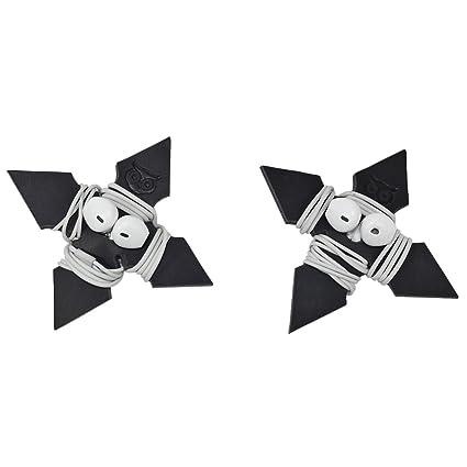 Amazon.com: piel gruesa estrella ninja auriculares Wrap 2 ...