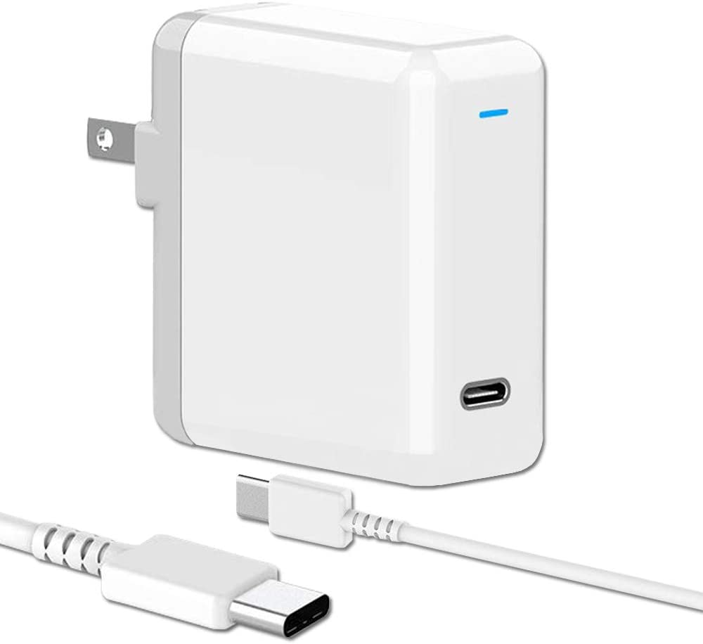 Replacement Mac Book Pro Charger, 61W USB C Charger Power Adapter, MacBook Air Charger PD Power Delivery 3.0 for MacBook Pro 13, iPad Pro Included USB-C to USB-C Charge Cable (6.6ft/2m)