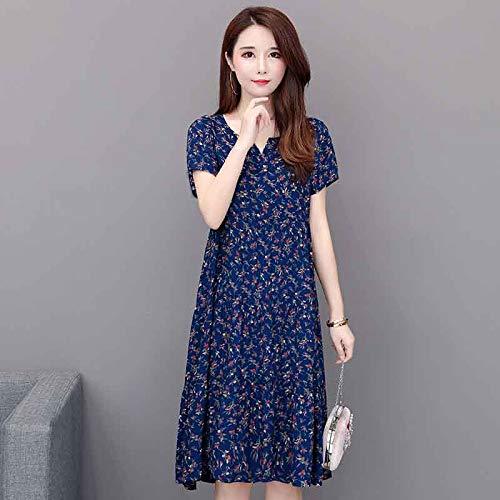 Wyfeay 2019 Tops Women Summer Dress Print Plus Size Women