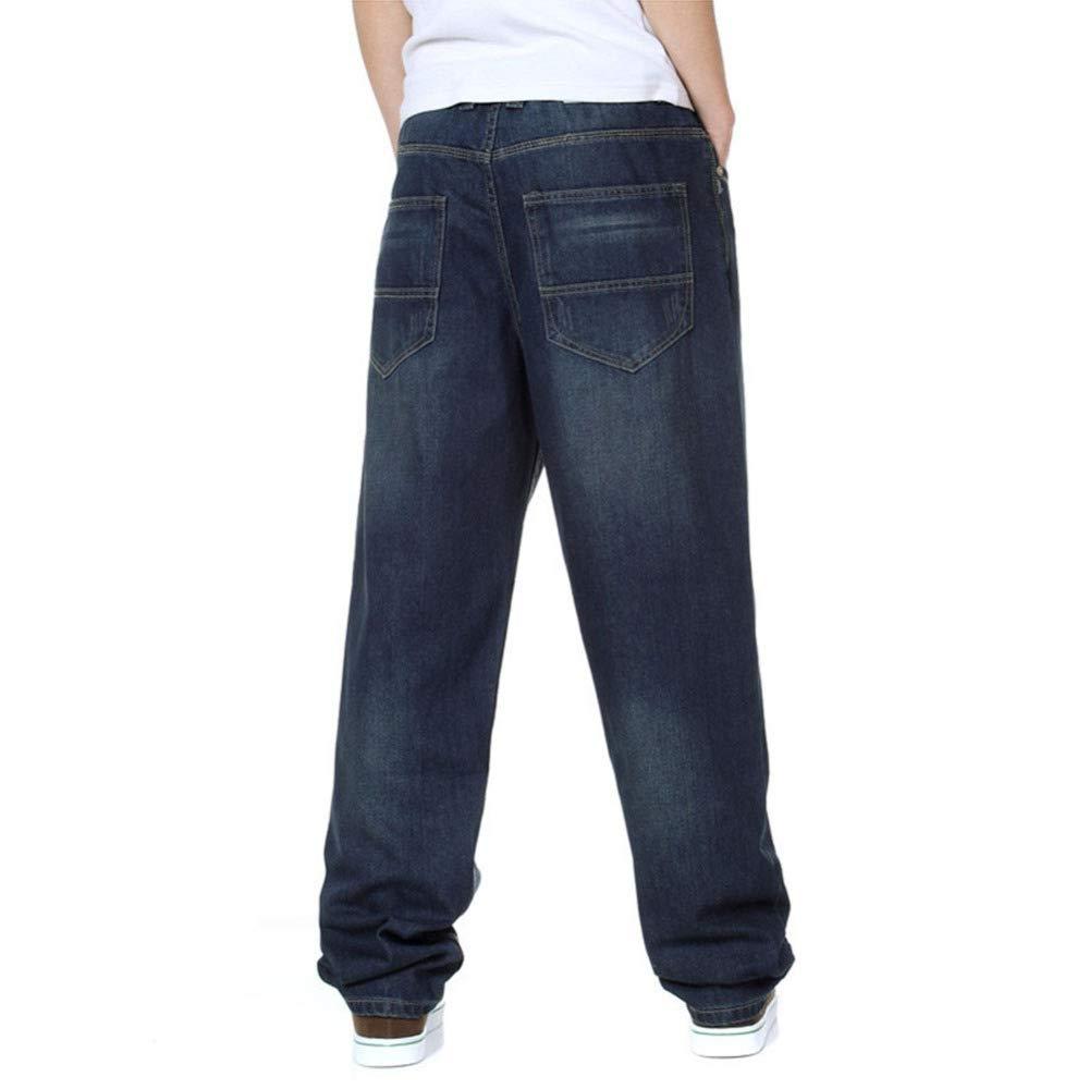 Pantalones Vaqueros Hombre Anchos Pierna Pantalones Vaqueros
