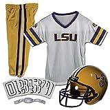 Franklin Sports NCAA LSU Tigers Kids College Football Uniform Set - Youth Uniform Set - Includes Jersey, Helmet, Pants - Youth Medium