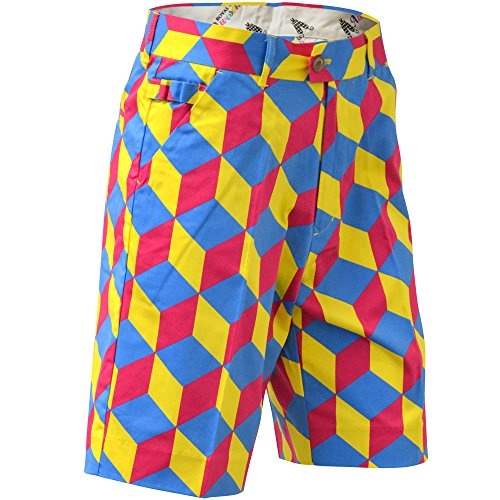 Royal & Awesome Men's Golf Shorts, Knicker Blocker Glory, 36