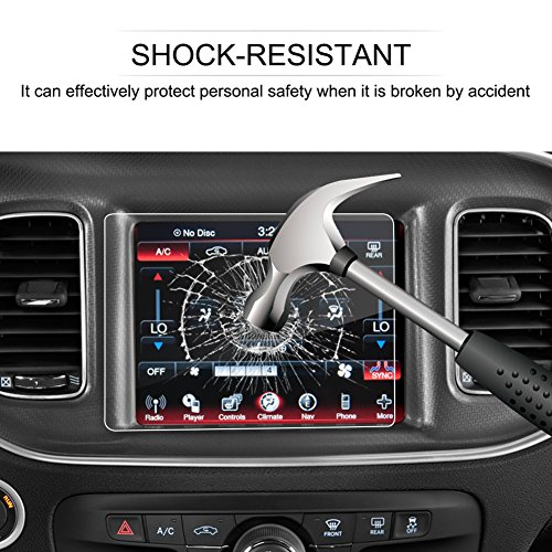 329 Glasses - LFOTPP Dodge Challenger SRT 329 R/T Durango SRT 329 Dart Journey Durango 8.4-inch Info Center Touch Screen Protector,Tempered Glass Scratch-Resistant Replacement for 8.4-inch Uconnect Screen