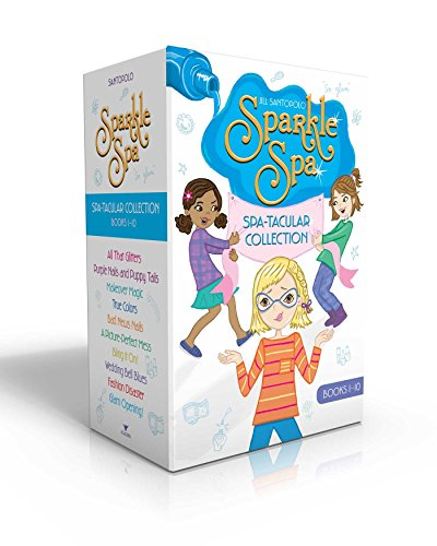Sparkle Spa Spa-tacular Collection Books 1-10: All That Glitters; Purple Nails and Puppy Tails; Makeover Magic; True Colors; Bad News Nails; A ... Bell Blues; Fashion Disaster; Glam Opening! (Glitter Make How To Glasses)