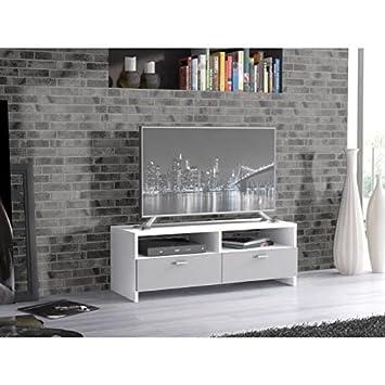 Finlandek Meuble Tv Helppo 95cm Blanc Et Gris Amazonfr Cuisine