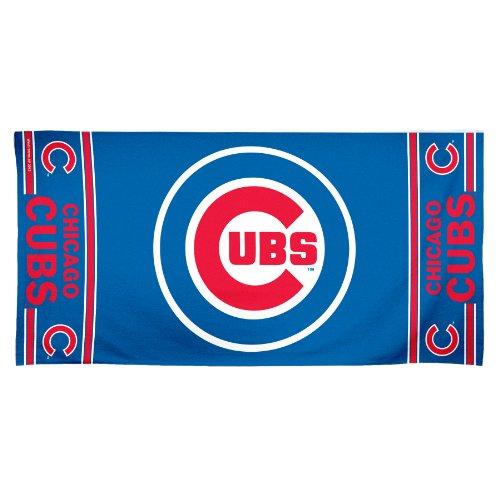 MLB Chicago Cubs 30 by 60 Fiber Reactive Beach Towel