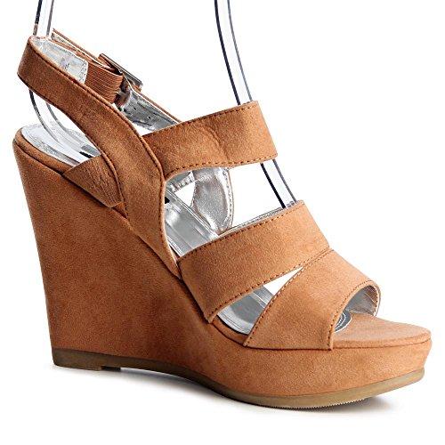 Marrón 41 de para talla color topschuhe24 vestir mujer Zapatos w87HYH