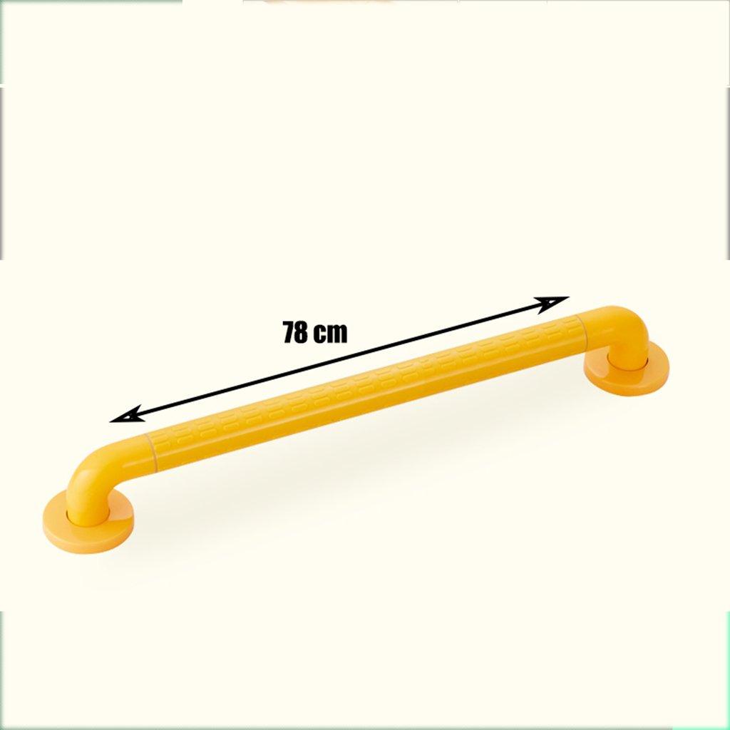 BSNOWF バスルームの安全な手すり老人障害のあるトイレアクセシブルなノンスリップハンドルステンレス製のバスルーム手すり ( 色 : イエロー いえろ゜ , サイズ さいず : 78センチメートル ) B07BKYGXLF 78センチメートル|イエロー いえろ゜ イエロー いえろ゜ 78センチメートル