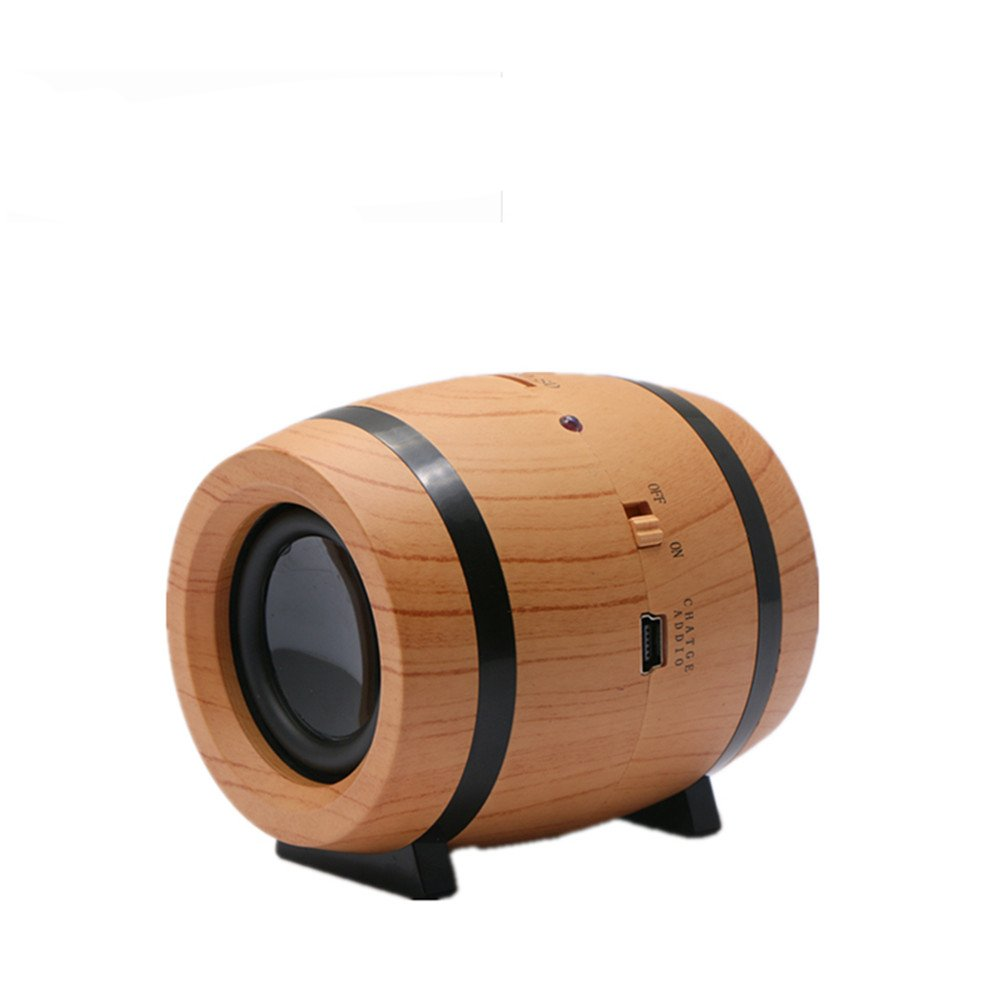 KINGEAR Double Horn Mini Portable Speaker Beer Bucket Creative Wireless Speaker with DSP Decoding MP3 and SBC Functions