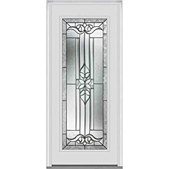 Superbe National Door Company ZA06867L Fiberglass Left Hand Prehung In Swing Entry  Door, Cadence Decorative