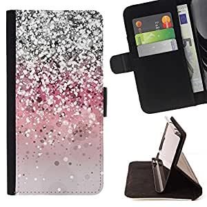 For Samsung Galaxy S3 Mini I8190Samsung Galaxy S3 Mini I8190 Glitter Silver Pink Grey Shiny Bling Style PU Leather Case Wallet Flip Stand Flap Closure Cover