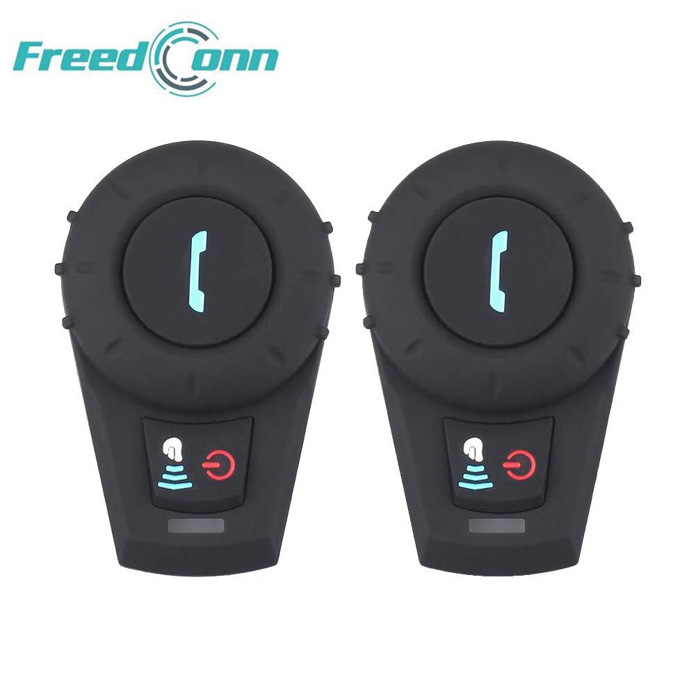 FreedConn FDC-VB 500 M Bluetoothオートバイヘルメットインターホンオートバイヘッドセット2 – 3 RidersフルDuplex Bluetoothハンズフリー防水インターコム通信for Ridingとスキー(ソフトタイプケーブル、2台セット) 2台セット,ソフトタイプケーブル  B07NBG7974