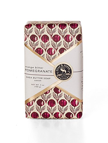 Soap & Paper Factory Block Party Shea Butter Soap, Orange Bitter Pomegranate, 5 Ounce]()