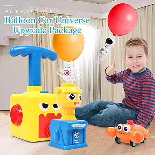 Bcamelys Balloon Racer Car Toy, Balloon Powered Launch Car,Balloon Pump Car Science Experiment Toy Hand Push Inflator Air Pump Vehicle Educational Gifts for Boys Girls