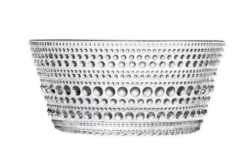 Iittala Kastehelmi Dew Drop Set of 4 Clear Glass Bowls, 7-3/4-Ounce Capacity per Bowl