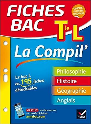 Livres gratuits Fiches bac La Compil' Tle L: le bac L en 195 fiches de révision pdf