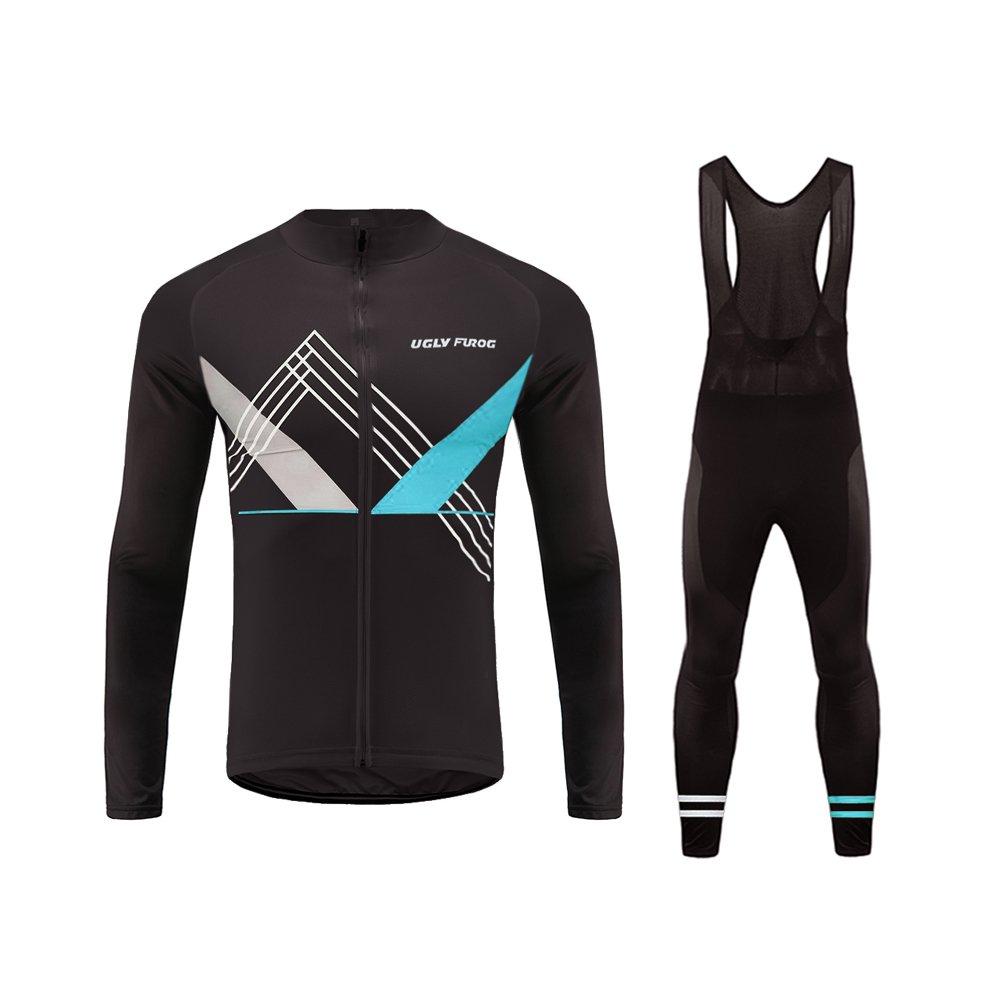 Uglyfrog  18 Radsport Trikots Lange Ärmel Sport & Freizeit Shirts Winter with Fleece Style