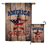 Ornament Collection S191188-BO Make America Great Again Americana Patriotic Impressions Decorative Vertical House 28″ X 40″ Garden 13″ X 18.5″ Double Sided Flags Set Printed in USA Multi-Color For Sale