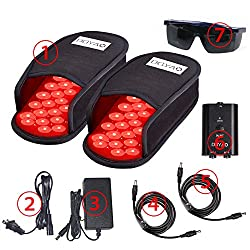 Near Infrared Red Light Therapy Devices LED Pad 880 nm and 660nm Foot Pain Relief Slipper for Feet Toes Instep A Pair