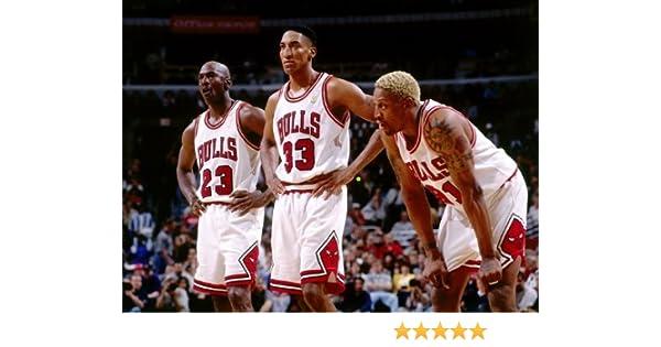 d27ebc3a2a73db Amazon.com  omgposter D9387 Chicago Bulls Legends Jordan Pippen Rodman  32x24 Print POSTER  Posters   Prints