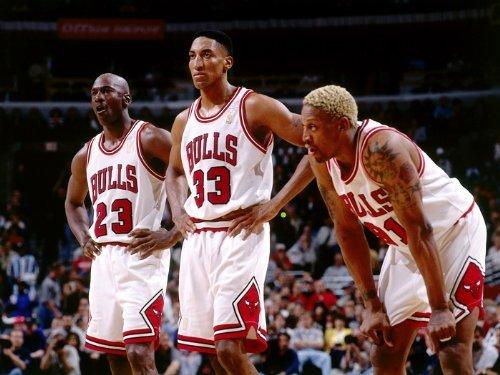 omgposter D9387 Chicago Bulls Legends Jordan Pippen Rodman 32x24 Print POSTER