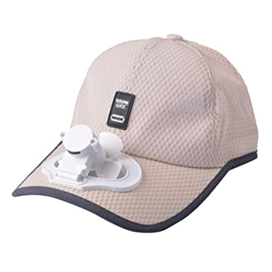 Summer Outdoor Accessory Solar Power Charging Hat Cap with Cooling Fan for Outdoor Camping Hiking Wearing