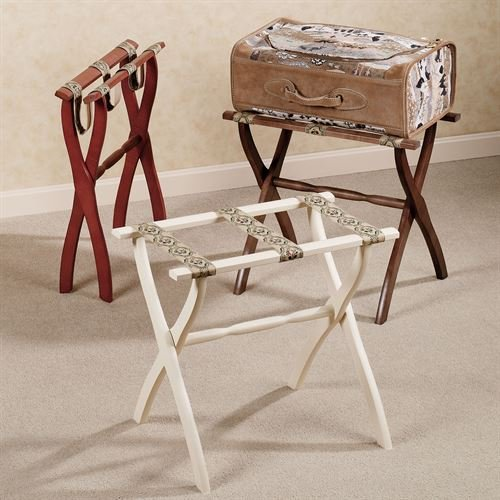 Gate House Furniture Petite Floral Luggage Rack by Gate House Furniture