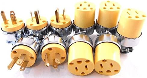5 FEMALE Plug Electrical Repair 5 MALE Extension Cord Replacement Ends 10