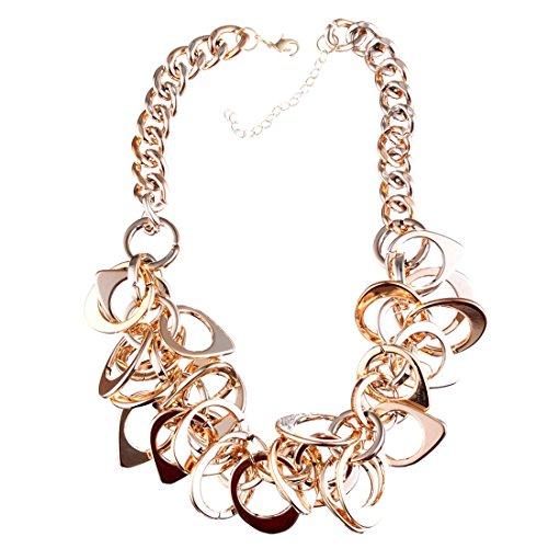 Geometric Chandelier Metallic Gold Plated Punk Chain