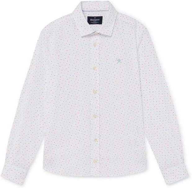 Hackett - Camisa Multi Triangle Print B HK301528/8AJ - Camisa Manga Larga NIÑO: Amazon.es: Ropa y accesorios