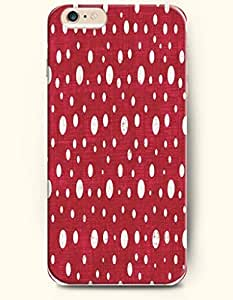 Retro White Dots In Red Background - Polka Dot Series - Phone Cover for Apple iPhone 6 Plus ( 5.5 inches ) - SevenArc ...