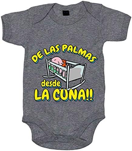 Body bebé de Las Palmas desde la cuna Gran Canaria fútbol - Amarillo, 6-12 meses: Amazon.es: Bebé