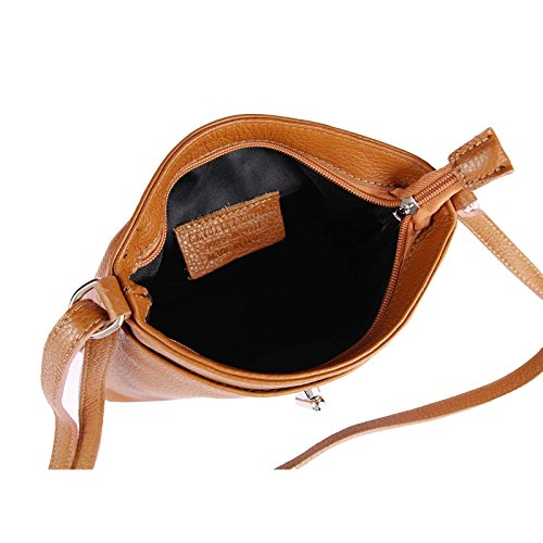 23x20x8 Cognac cm femme Sac pour Italy BxHxT Made bandoulière XqZ7wZ1
