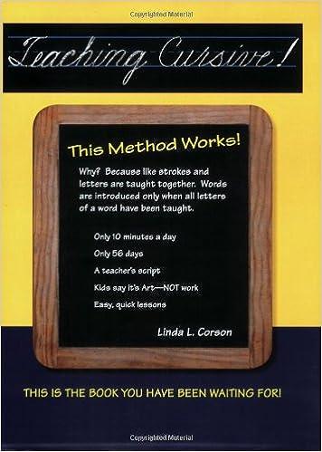 Teaching cursive this method works linda l corson 9780941159302 teaching cursive this method works linda l corson 9780941159302 amazon books fandeluxe Images