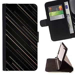 Momo Phone Case / Flip Funda de Cuero Case Cover - Rayas Art Wallpaper Naranja Verde Negro - Sony Xperia Z5 Compact Z5 Mini (Not for Normal Z5)