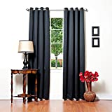 Best Home Fashion Basic Thermal Insulated Blackout Curtains - Antique Bronze Grommet Top