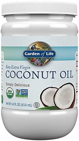 Garden of Life Organic Extra Virgin Coconut Oil - Unrefined Cold Pressed Plant Based Oil for Hair, Skin and Cooking, 14 Ounce