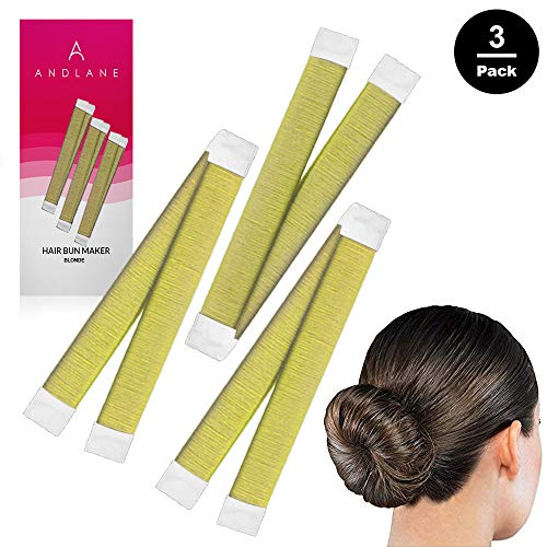 Women's Hair Bun Maker French Twist Hair Fold Wrap Snap by Andlane (3 Blonde)   (Easy Diy Updos For Shoulder Length Hair)