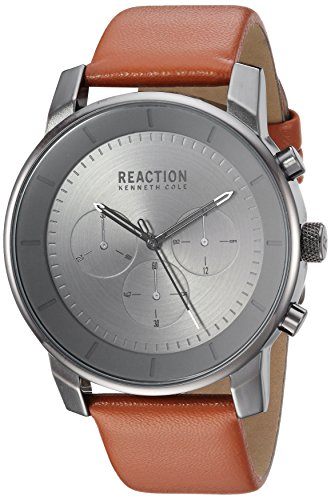 Kenneth Cole REACTION Men's Quartz Metal Casual Watch, Color:Brown (Model: RK50082004)