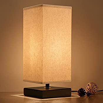 Cavogin Minimalist Romantic Solid Wood Table Lamp With Flaxen ...