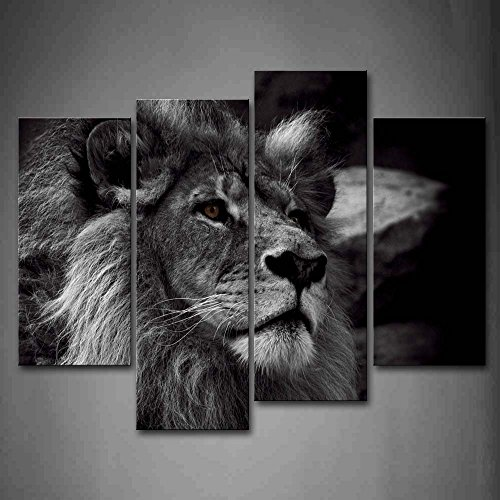 Black And White Gray Lion Head Portrait Wall Art Painting Pictures Print On Canvas Animal The Picture For Home Modern Decoration …anvas Food The Picture For Home Modern Decoration by Canvas Print Decor