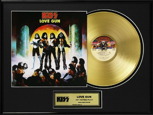 Kiss Love Gun Framed Gold Record