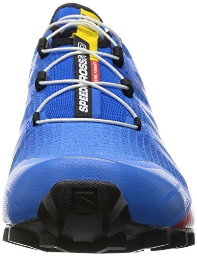 Salomon Speed Cross Pro - Zapatillas de running para hombre Multicolor (Bright Blue/Radiant Red/Black)