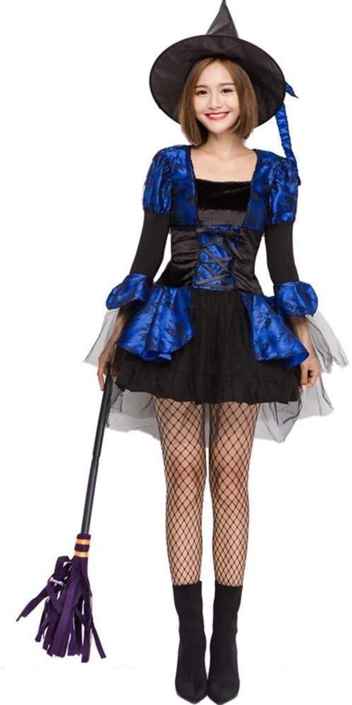 LXDdjws Bruja de Halloween Cosplay Mujer Bruja de rol Traje ...