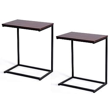 Amazon.com: Tangkula Mesa auxiliar para sofá, mesa de ...