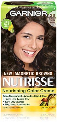 Garnier Nutrisse Nourrissant Cheveux couleur crème, 33 Darkest Golden Brown