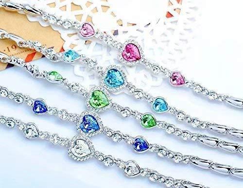 Hoveey Charming Bracelet jonc en cristal autrichien inspir/é du Titanic