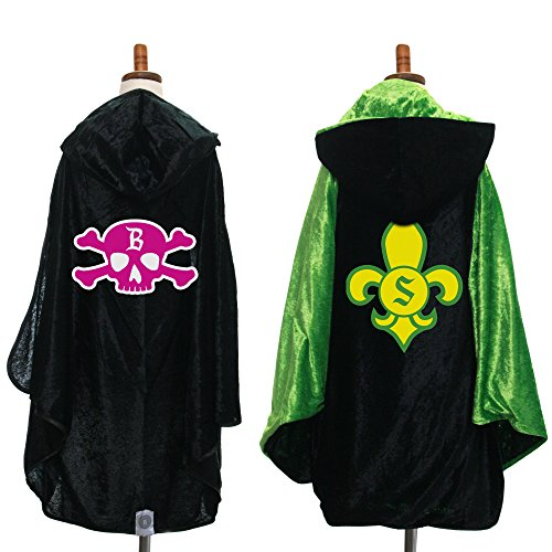 Everfan Personalized Kids Hooded Cape | Children's Cloak with Hood for Halloween, Harry Potter (Black) -